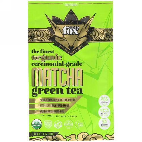 Green Foods, フォルデットフォックス、オーガニック抹茶、30g(1.1 oz) (Discontinued Item)
