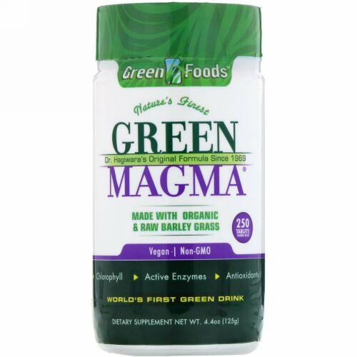 Green Foods, Green Magma、500 mg、250錠