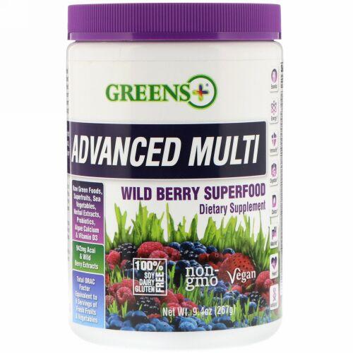Greens Plus, アドバンスド マルチ, ワイルド ベリー スーパーフード, 9.4 oz 粉末