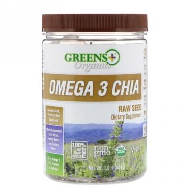 Greens Plus, Omega 3 Chia, 1.0 lb (454 g) (Discontinued Item)