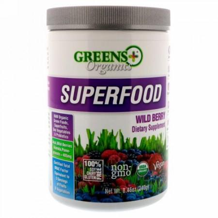 Greens Plus, オーガニックススーパーフード, ワイルドベリー, 8.46オンス (240 g)
