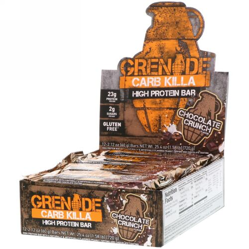 Grenade, Carb Killa, High Protein Bar, Chocolate Crunch, 12 Bars, 2.12 oz (60 g) Each (Discontinued Item)