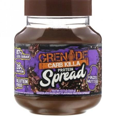 Grenade, Carb Killa, Protein Spread, Chocolate Hazelnut Flavor, 12.7 oz (360 g)