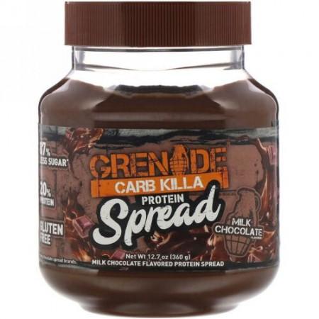 Grenade, クラブキラプロテインスプレッド、ミルクチョコレート、12.7オンス (360 g)