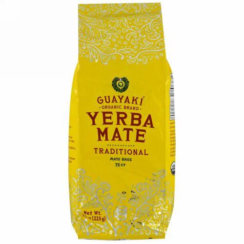 Guayaki, トラディショナル、 マテ茶 、 75ティーバッグ、 7.9 oz (225 g) (Discontinued Item)