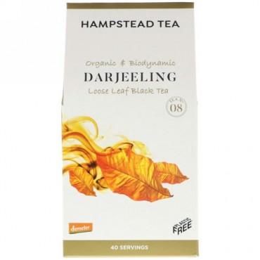 Hampstead Tea, Organic & Biodynamic, Loose Leaf Black Tea, Darjeeling, 3.53 oz (100 g) (Discontinued Item)