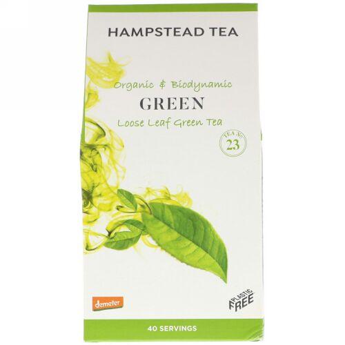 Hampstead Tea, Organic & Biodynamic, Loose Leaf Tea, Green , 3.53 oz (100 g) (Discontinued Item)