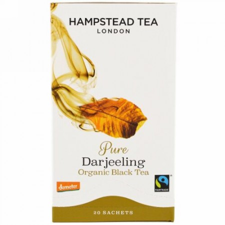 Hampstead Tea, オーガニック、ダージリンティー、20袋、1.41オンス(40 g) (Discontinued Item)
