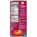 Happy Family Organics, Happy Kid(ハッピーキッズ)、オーガニックリンゴ、ブルーベリー、ザクロ、4袋、各90g(3.17オンス)