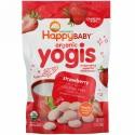 Happy Family Organics, happyyogis, ヨーグルト&フルーツのおやつ, ストロベリー, 1 oz (28 g)