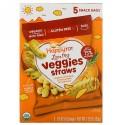 Happy Family Organics, オーガニックハッピートット、ラブマイベジー、ヒヨコマメストロースナックバッグ、オーガニックスイートポテト&ローズマリー、5袋、1袋当たり0.25 oz (7 g) (Discontinued Item)