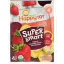 Happy Family Organics, オーガニックス ハッピー トット、スーパー スマート、フルーツ & ベジ ブレンド、ステージ4、オーガニック バナナ ビーツ & ストロベリー、パウチ4個、各4 oz (113 g) (Discontinued Item)