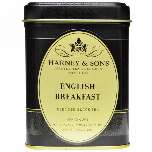 Harney & Sons, イングリッシュブレックファスト ブレンド紅茶, 4オンス(112 g)