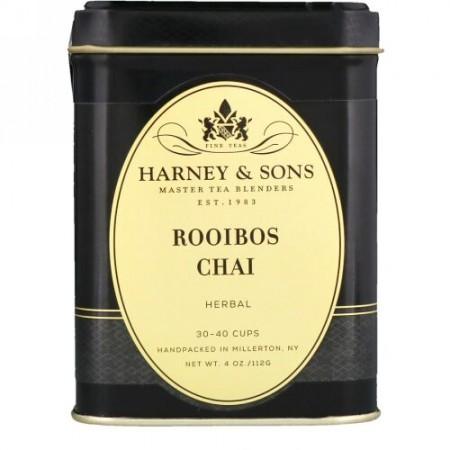 Harney & Sons, ルイボスチャイ、カフェインレス、4 oz (Discontinued Item)