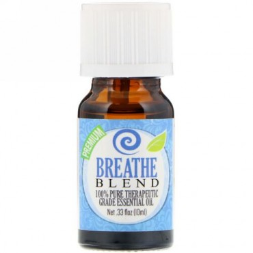 Healing Solutions, 100% Pure Therapeutic Grade Essential Oil, Breathe Blend, 0.33 fl oz (10ml) (Discontinued Item)