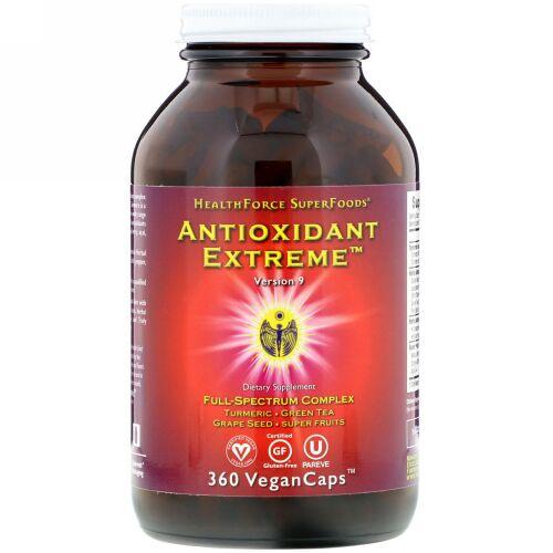 HealthForce Superfoods, Antioxidant Extreme(アンチオキシダント エクストリーム)、バージョン9、植物性カプセル360粒