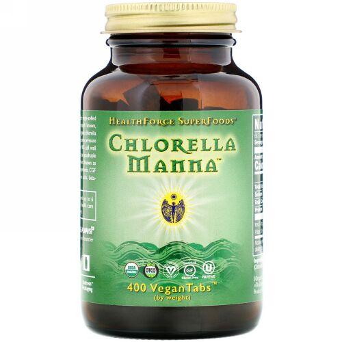 HealthForce Superfoods, クロレラ マナ(Chlorella Manna), 400粒(ベーガン錠)
