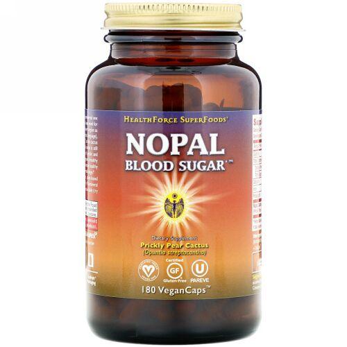 HealthForce Superfoods, Nopal Blood Sugar, 180 VeganCaps