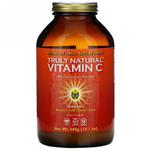 HealthForce Superfoods, Truly Natural Vitamin C, 14.1 oz (400 g)