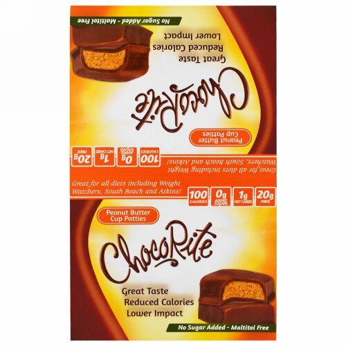HealthSmart Foods, チョコライト、ピーナッツバターカップパティ、16個、各36g(1.27オンス) (Discontinued Item)
