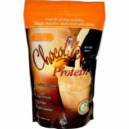 HealthSmart Foods, ChocoRite Protein, Peanut Butter, 14.7 oz (418 g) (Discontinued Item)
