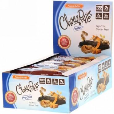 HealthSmart Foods, ChocoRite Protein Bar, Peanut Butter, 16 Bars, 1.2 oz (34 g) Each  (Discontinued Item)