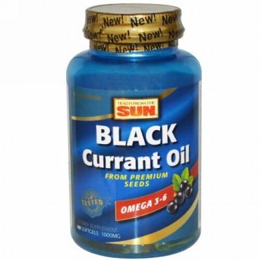 Health From The Sun, ブラックカラントオイル, 1,000 mg, 60 ソフトカプセル