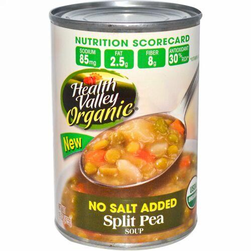 Health Valley, オーガニック、 スプリットピー スープ、 無塩、 15 oz (425 g) (Discontinued Item)