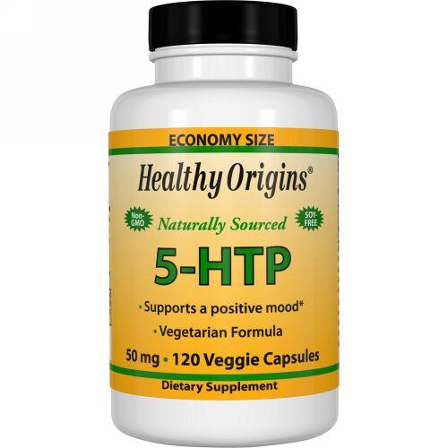 Healthy Origins, 5-HTP、50mg、ベジカプセル120個 (Discontinued Item)
