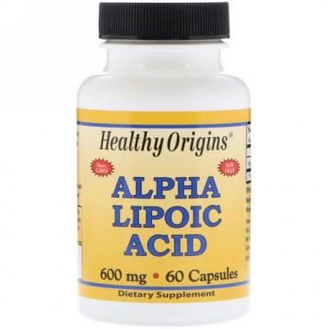 Healthy Origins, αリポ酸, 600 mg, 60カプセル (Discontinued Item)
