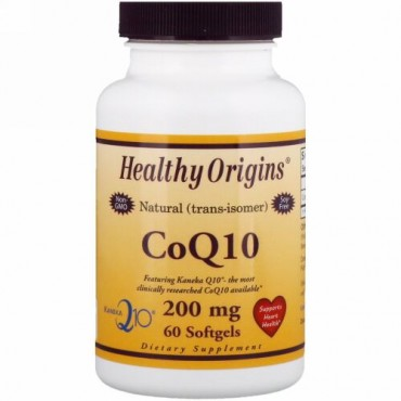 Healthy Origins, CoQ10、カネカQ10、200mg、ソフトゲル60個 (Discontinued Item)