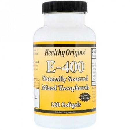 Healthy Origins, E-400、400 IU、180 ソフトジェル (Discontinued Item)