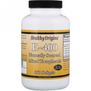 Healthy Origins, E- 400、ソフトジェル360個 (Discontinued Item)