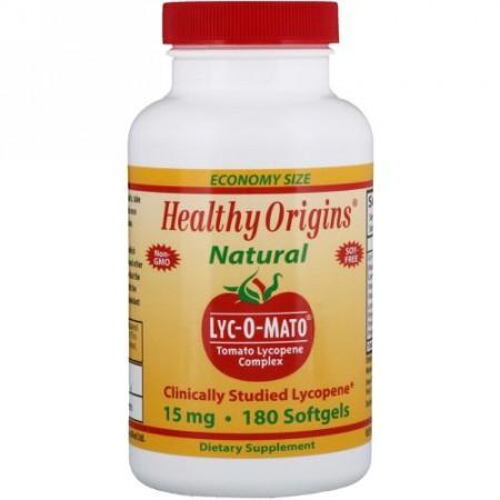 Healthy Origins, Lyc-O-Mato、トマトリコピン複合体、15 mg、ソフトジェル 180粒 (Discontinued Item)
