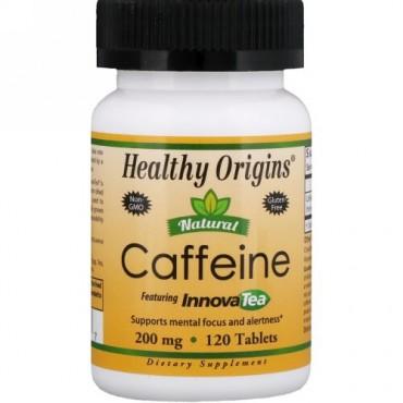 Healthy Origins, ナチュラルカフェイン、イノーバティー配合、200 mg、120錠 (Discontinued Item)