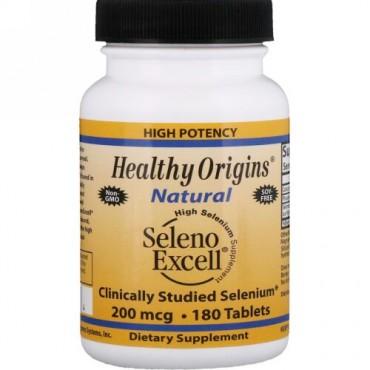 Healthy Origins, セレノエクセル、200 mcg、 180 錠 (Discontinued Item)