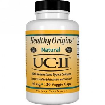 Healthy Origins, 未変性タイプIIコラーゲンを含むUC-II、40mg、ベジキャップ120錠 (Discontinued Item)
