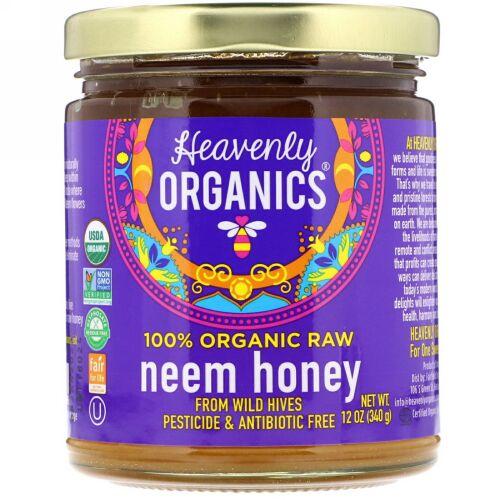 Heavenly Organics, 100%オーガニック生ニームハニー, 12オンス(340 g) (Discontinued Item)