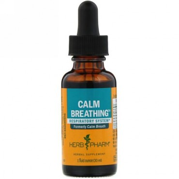 Herb Pharm, Calm Breathing, Respiratory System, 1 fl oz (30 ml) (Discontinued Item)