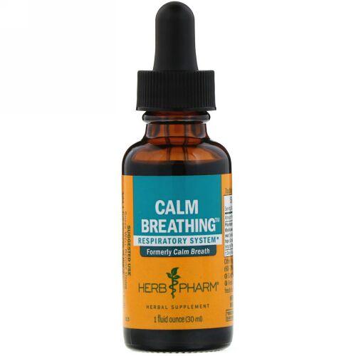 Herb Pharm, Calm Breathing, Respiratory System, 1 fl oz (30 ml) (Discontinued Item)