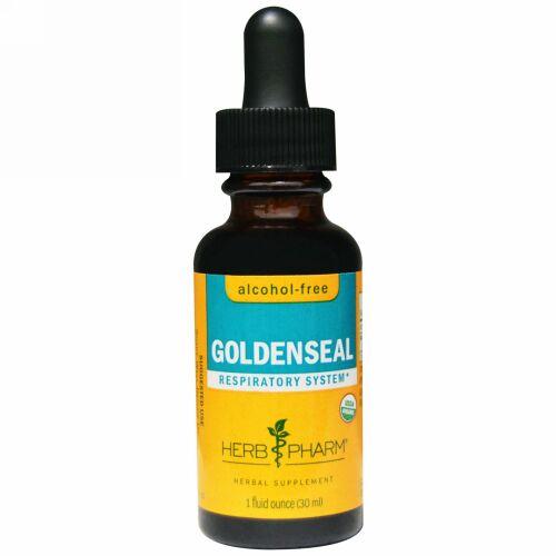 Herb Pharm, ヒドラスチス(Goldenseal), アルコールフリー, 1液量オンス(30 ml) (Discontinued Item)
