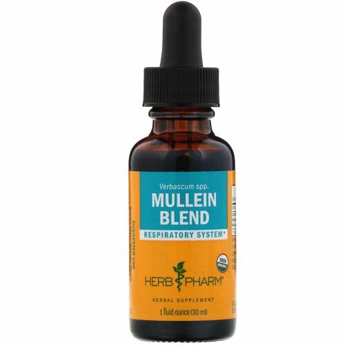 Herb Pharm, モウズイカ(Mullein )ブレンド, 1液量オンス(30 ml)