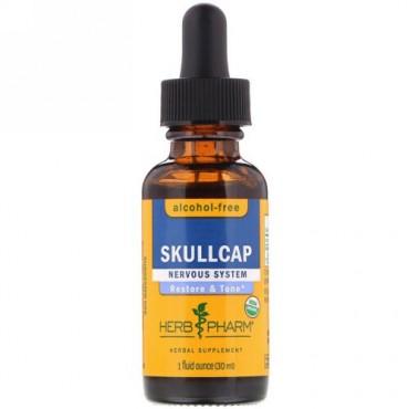 Herb Pharm, スカルキャップ, アルコールフリー, 1液量オンス(30 ml) (Discontinued Item)
