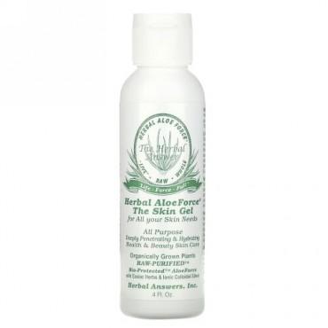 Herbal Answers, Herbal Aloe Force、スキンジェル、  4 液量オンス(120ml)
