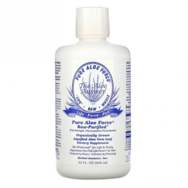 Herbal Answers, ピュア・アロエ・フォース®, リキッド・アロエベラリーフ, 32 液量オンス (946 ml)
