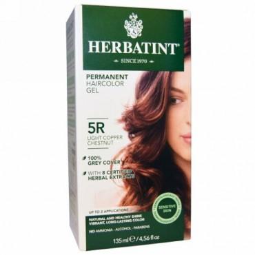 Herbatint, パーマネント・ヘアカラー・ジェル、5R ライト・コッパー・チェスナッツ、4.56 fl oz (135 ml)