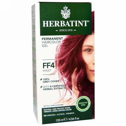 Herbatint, パーマネント ヘアカラー ジェル、FF 4、バイオレット、4.56 fl oz (135 ml) (Discontinued Item)