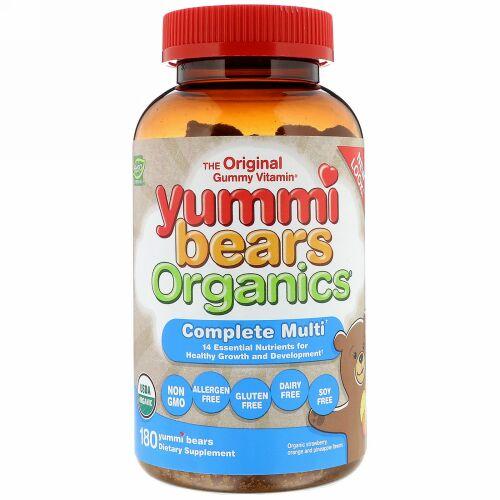 Hero Nutritional Products, Yummi Bears Organics, Complete Multi, Organic Strawberry, Orange and Pineapple Flavors, 180 Yummi Bears