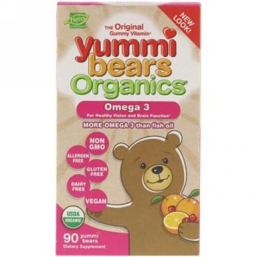 Hero Nutritional Products, ヤミーベアーズオーガニック、オメガ3、グミ90個入り (Discontinued Item)