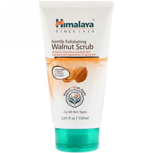 Himalaya, Gentle Exfoliating Walnut Scrub, For All Skin Type, 5.07 fl oz (150 ml) (Discontinued Item)